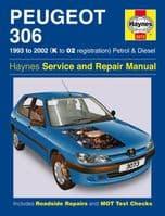 Haynes Workshop Repair Manual Peugeot 306 93 - 02